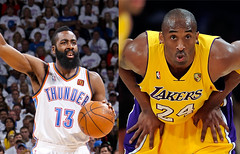 Sponsors Part 1 (lanceenjoyscereal) Tags: city usa oklahoma basketball james los angeles mcdonalds kobe okc bryant nba lakers porche thunder sponsor harden lal