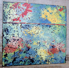 Abstract with Blue (JoMo (peaceofpi)) Tags: wood canada abstract art painting square j colorful acrylic fave peaceofpi