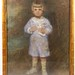 112. Large Antique Portrait of a Young Boy