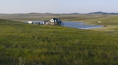 (WOGO*) Tags: 2 panorama farmhouse digital landscape evening back pond kodak shots pro medium format mf stitched dcs nizomi