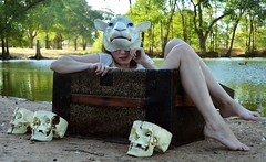 (Brooke Denton) Tags: water girl fairytale vintage skulls photography mask legs brooke taylor trunk lamb worms denton