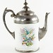226. 19th century English Enamelware & Pewter Teapot