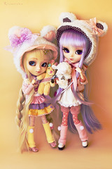 Two Bears (Rinoninha) Tags: cute hat doll handmade chips 25 wig kawaii cancan pullip nia 27 ichigo mueca coolcat peluca mymelody colorespastel pastelcolors leeke obitsu leekeworld rewigged rechipped fairykei alicedujardin