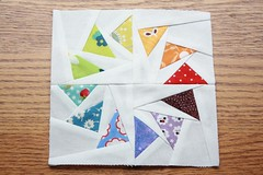 Miniature Circle of Geese (Erin @ Why Not Sew? Quilts) Tags: circle paper miniature geese quilt block pieced