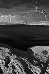 Lake Mojave Lightning (Thomas Dwyer) Tags: blackandwhite storm photo nikon desert image nevada tokina1224 nelson coloradoriver lightning lakemojave eldoradocanyon tomdwyer d7000 thomasdwyer