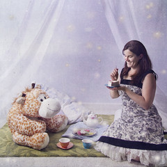 Tea Time (dorisaurus) Tags: childhood teaparty whimsical whimsicalphotography studiodorisphotography stuffedanimalteaparty