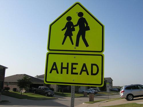 school crossing sign, From FlickrPhotos