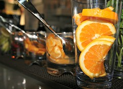 ORANGE SLICES (marsha*morningstar) Tags: chicago glass illinois mint oranges oldtown lincolnhotel