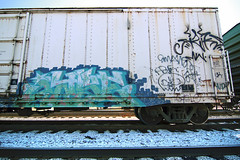 JASE (TRUE 2 DEATH) Tags: railroad train graffiti graf rusty trains bn railcar rusted weathered boxcar ba railways railfan freight bnsf reefer jase freighttrain rollingstock wfe burlingtonnorthern scrapped westernfruitexpress benching freighttraingraffiti bnfe bnfe12330