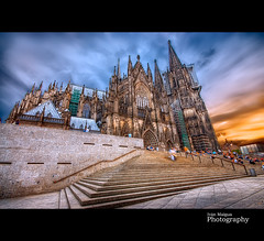 Cologne Cathedral (Ivn Maigua) Tags: sunset sky colors germany nikon cologne sigma ivn koln hdr colognecathedral keulen nikond200 duistland sigma10mm20mm domvankeulen artistictouch ivnmaigua