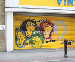 (e_alnak) Tags: greatbritain urban streetart streets art yellow graffiti stencil paint britain spray urbanart streetartist strong spraypaint publicart aerosol striking bold alberteinstein traffordparsons ealnak