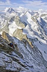 Climbing Biner Slab (sylweczka) Tags: summer snow mountains alps switzerland climb tour glacier climbing hochtour zinalrothorn sylweczka