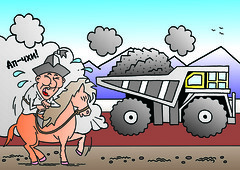 Mining cartoon 14 - Russian (Zoi Environment Network) Tags: road people mountain truck support quality destruction cartoon picture mining company lorry infrastructure local dust population centralasia kyrgyzstan complaint lack resident degradation demography