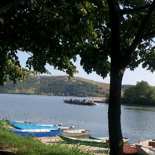 Intrarea Dunării în România, văzută dinspre ieşirea Dunării din Serbia