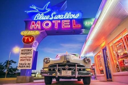 Tucumcari, New Mexico - The Blue Swallow Motel