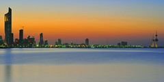 kuwait city with panorama view (mohamed al-nasser) Tags: sunset kuwait q8 kuwaittower alhamratower nikond3s