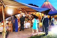 the Buzz of a Wedding (rebeccalaurenphotos) Tags: wedding party cute guests little tent busy reception aww weddingparty bless weddingreception tipi rushing