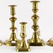 162. 19th century Brass Candlesticks