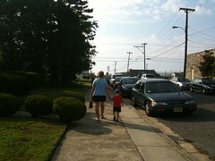 Dominic and Nan Ann heading to breakfast