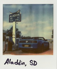 I later discovered Aladdin is in Wyoming. Guess I wasn't paying attention. (EktaROC) Tags: sun polaroid sx70 600 instant sonar impossible colorshade px70