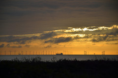 SUNRISE OVER BOTANY BAY  (104) (DESPITE STRAIGHT LINES) Tags: uk morning sea england sky cliff cloud sunlight seaweed beach wet water silhouette rock clouds sunrise dawn bay coast boat chalk kent seaside am sand nikon rocks waves ship power sandy tide shoreline silhouettes wave vessel cliffs coastal shore coastline botanybay tidal windfarm goldenhour turbines firstlight broadstairs thegoldenhour offshorewindfarm botanybaykent d7000 nikon18105mmvr nikongp1 botanybaybroadstairs nikond7000 sunriseoverbotanybay botanybayuk