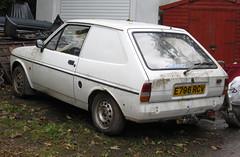 1988 FORD FIESTA L VAN (Yugo Lada) Tags: old cars ford abandoned car photo nice cornwall fiesta 1988 rusty retro l parked van rare 2012 mouldy e796rcv