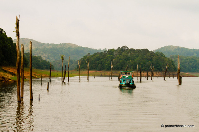 Boating At Periyar Tiger Reserve, Thekkady, Kerala