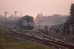 IMG_0313.jpg (yeahwotever) Tags: india delhi signal freight slum outskirts semaphore sidings