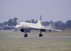 Concorde (Nigel Musgrove-2 million views-thank you!) Tags: england tattoo air july gloucestershire international concorde british airways 13 1985 raf fairford gboag bacaerospatilae