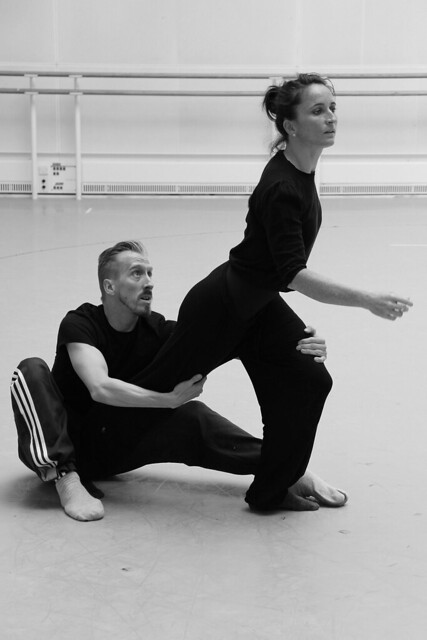 "Christopher Akrill and Charlotte Broom rehearsing works from Three & Four Quarters.  Photo by Chris Shipman  <a href=""http://www.roh.org.uk"" rel=""nofollow"">www.roh.org.uk</a>"