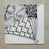 southeast (shebicycles) Tags: monochrome pen pencil tile square doodle ensemble zentangle