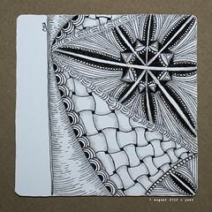 northcentral (shebicycles) Tags: monochrome pen pencil tile square doodle ensemble zentangle