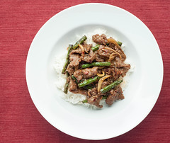 Mongolian Beef with Sauted String beans and Onions (ladyjaysfc) Tags: food 50mm rice chinesefood naturallight stringbeans mongolianbeef ladyjaysfc jamierodriguezphotograhy