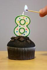 My 8th Flickrversary! (Brian Aslak) Tags: flickr candle chocolate 8 otto flickrversary ocho muffin viii eight acht huit oito flickrbirthday kahdeksan  sekiz ocht tta kaheksa tet nyolc osiem zortzi tte  astoi atuoni