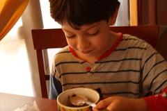 chocolate :Q__ (Aleksa_) Tags: smile face breakfast canon mouth eos milk child chocolate spoon kinder dirty bimbo cocoa latte cioccolato viso nesquick colazione tazza cucchiaino bambino cucchiaio cacao volto 1000d