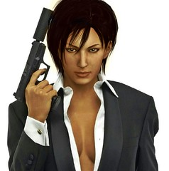 The Sexy Assassin (brian_wasley) Tags: female 3d breasts render posing games suit videogames human solo browneyes blackhair seminude lookingahead adawong residentevil photomap xps residentevil2 girlwithgun sologirl girlsolo solofemale xnalara photomanilution posingwithgun