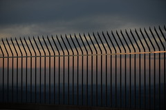 Black mountain tower (gavingmb) Tags: nikon d610 fx outdoor atmospheric hdr travel photography travelphotography 70200mm f28 canberra clouds fence grill australia minimalism minimalist