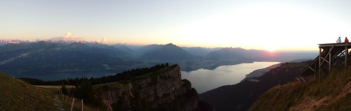 panorama on Thunersee from Niderhorn