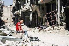 Daraya: a tale of perseverance. (Take a look on Syria without propaganda) Tags: syria damascus daraya darayya children siege shelling rubble destruction childhood war           dimashqi