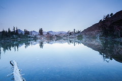 Jabu (Neuronico) Tags: camping sierra california lake mountain hike outdoor sky sunset blue reflection