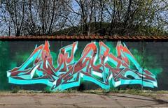 Mac (Walls of Belgrade) Tags: belgrade beograd streetart serbia spraypaint wall graffiti tramline mac