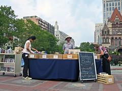 BostonRoundaboutBooks (fotosqrrl) Tags: boston massachusetts streetphotography urban dartmouthstreet copleysquare books selling streetvendor