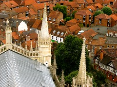 Gothic view (2) (Szymek S.) Tags: towers spires roofs church cathedral minster yorkminster architecture gothic town oldtown york yorkshire england greatbritain unitedkingdom