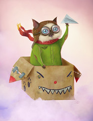 Lt. Coconut 'Belly' Slushie (Shmoonify) Tags: characterdesign cat cats flying pilot aviator cute adorable painting digitalart digitalpainting kitty kitten kittycat box boxes catsinboxes characterchallenge