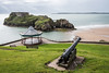 Tenby - The Cannon the Bandstand and the Island