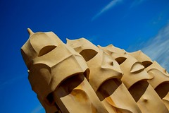 La pedrea roof top vents (JAD modern Photography) Tags: architecture spain antoni gwell gael modern design gaudi barcelona