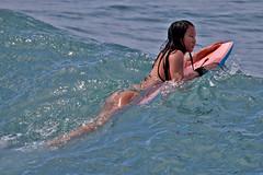 The Boogieboarder (RicoLeffanta) Tags: bikini girl young teen teenager lady woman female ocean sport body boogie board boogieboard waikiki oahu hawaii usa rico leffanta