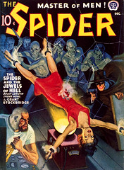The Spider (December 1940), cover by Rafael DeSoto (Tom Simpson) Tags: thespider pulp pulpart comics vintage illustration spider bondage woman tied bound bdsm 1940 cover rafaeldesoto 1940s