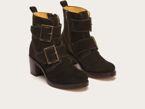 "Frye Sabrina Double Buckle boot fatigue • <a style=""font-size:0.8em;"" href=""http://www.flickr.com/photos/65413117@N03/29226340865/"" target=""_blank"">View on Flickr</a>"