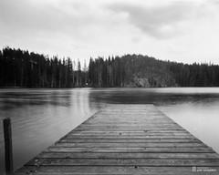 pinhole4x5_2016-04-25-0002+ (Jari Savijrvi) Tags: bridge diy4x5pinhole fomapan100 kuhmoinen places puukkoinen sheltti spring kotajrvi lake neulanreik pinhole